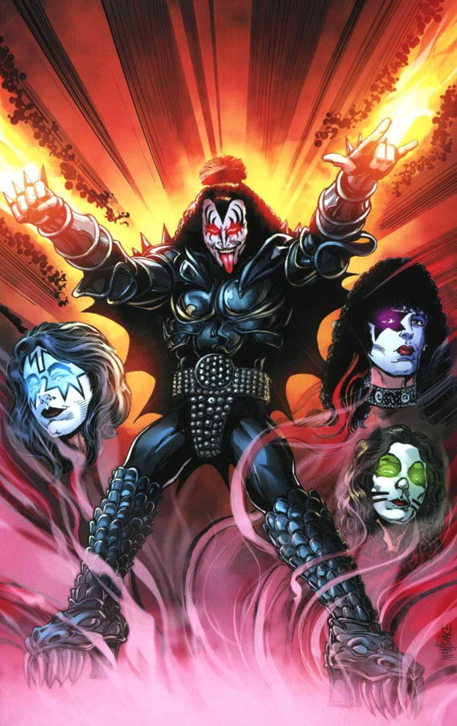 KISS The Demon #1 Cover K Incentive Tom Mandrake Virgin Cover