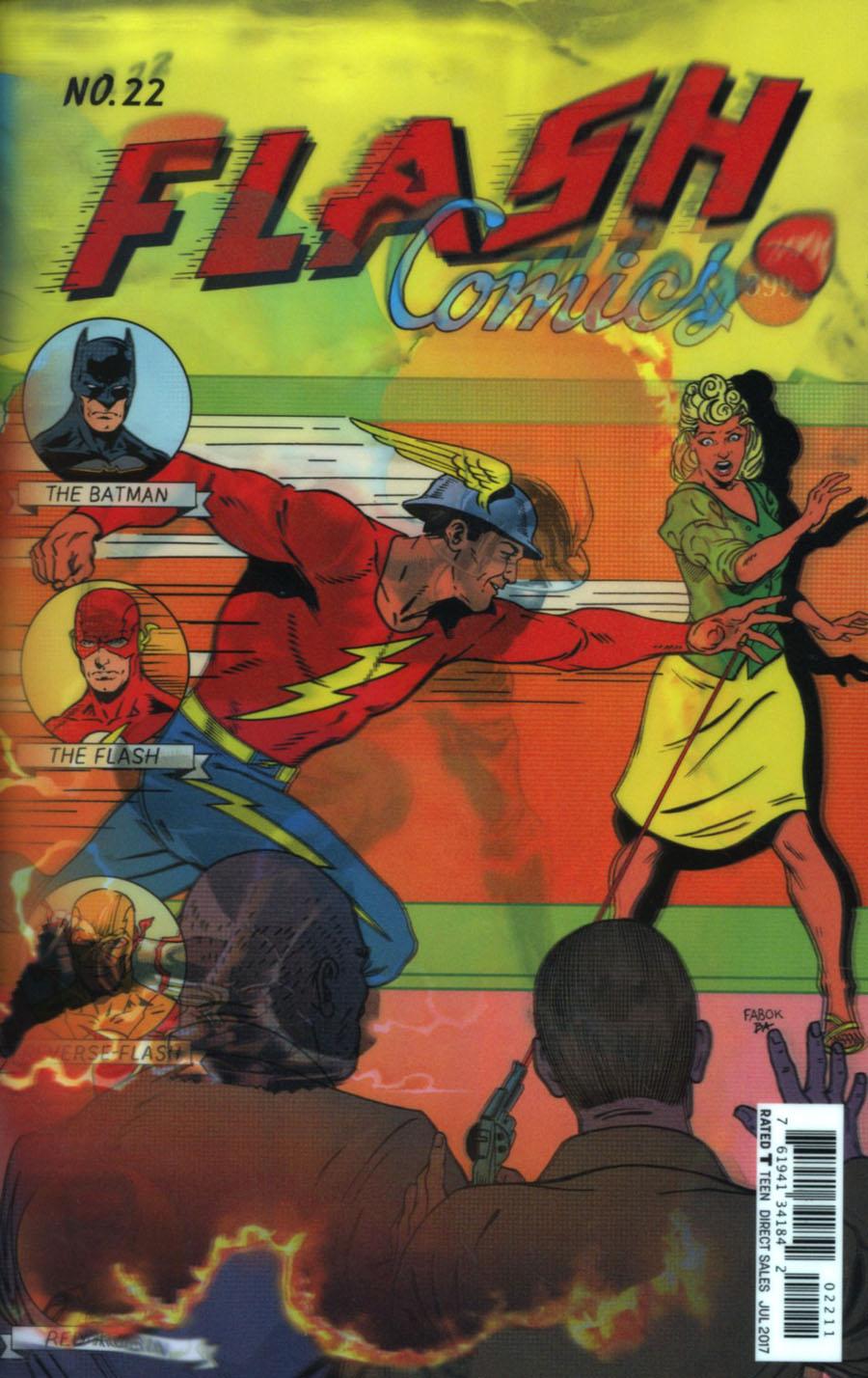 Flash Vol 5 #22 Cover A Regular Jason Fabok Lenticular Cover (The Button Part 4)