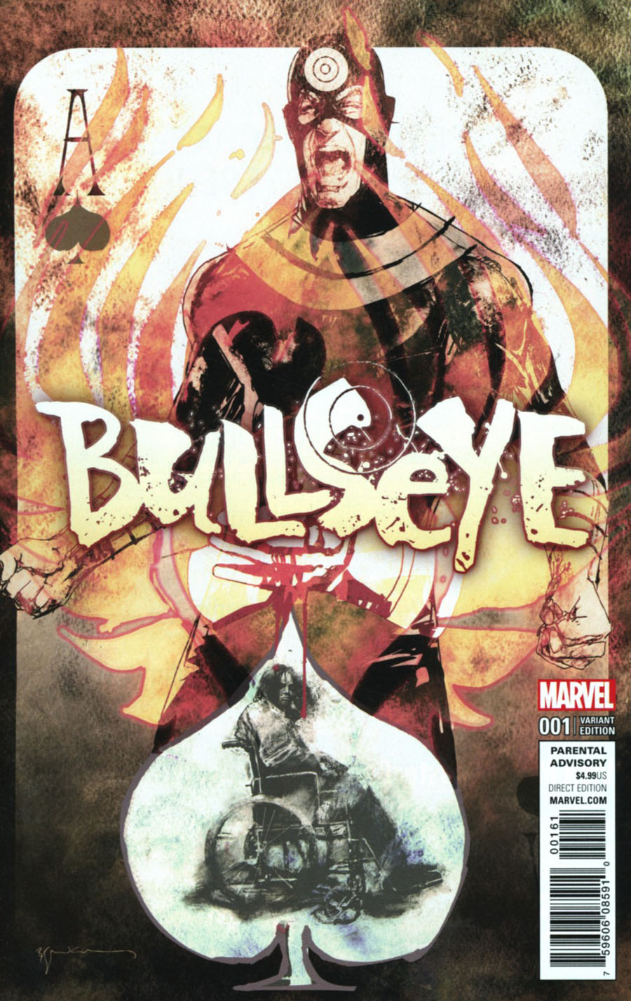 Bullseye #1 Cover G Incentive Bill Sienkiewicz Variant Cover