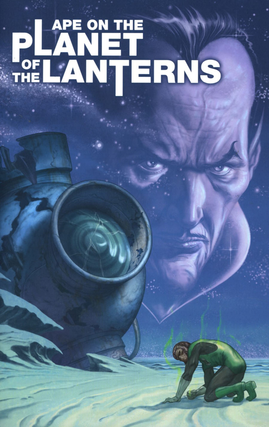 Planet Of The Apes Green Lantern #1 Cover D Incentive Steve Morris Movie Poster Virgin Variant Cover