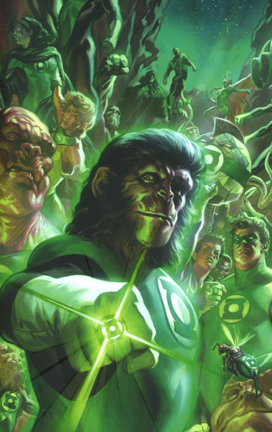 Planet Of The Apes Green Lantern #1 Cover F Incentive Felipe Massafera Spectrum Virgin Variant Cover