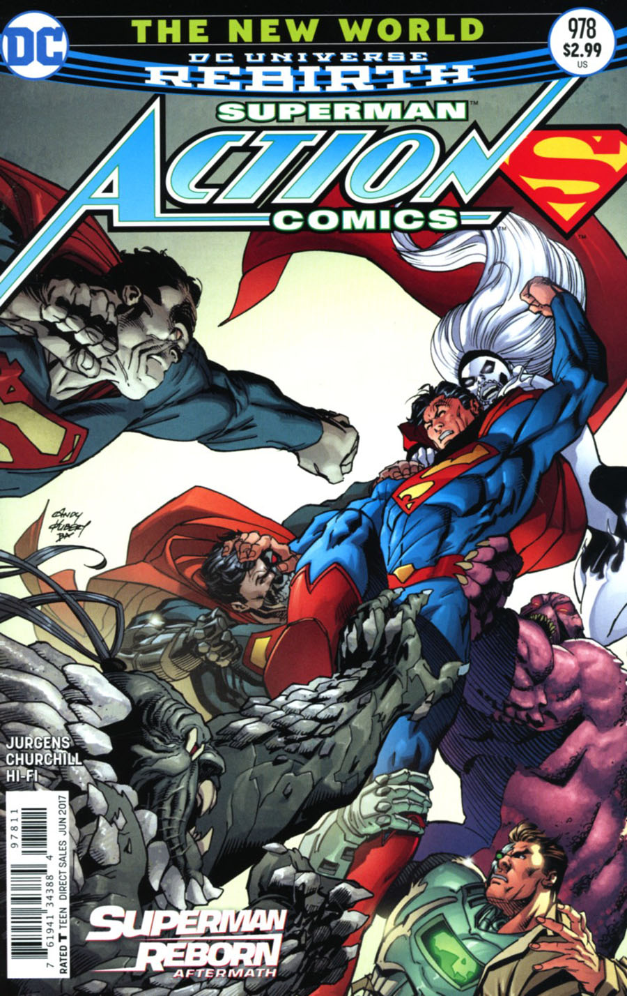 Action Comics Vol 2 #978 Cover A Regular Andy Kubert Cover (Superman Reborn Aftermath Tie-In)
