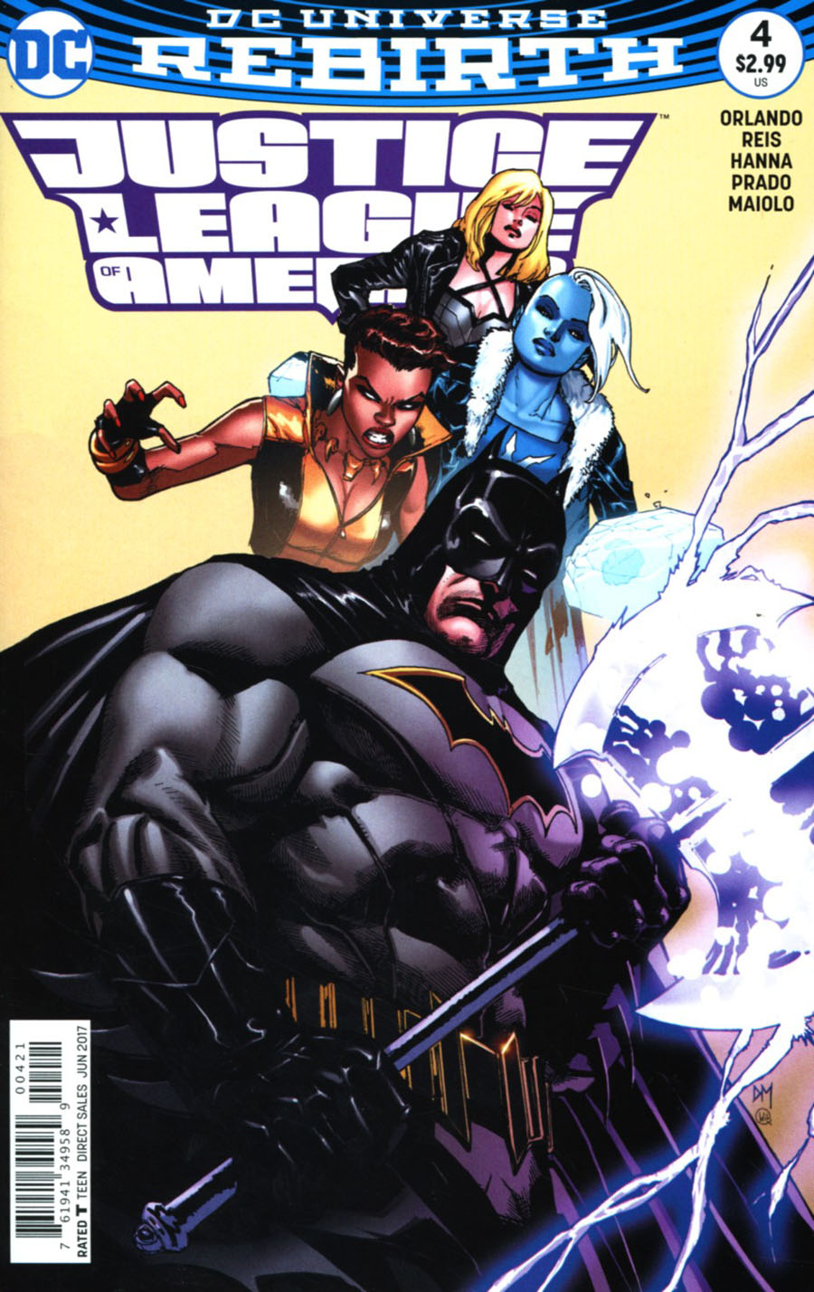 Justice League Of America Vol 5 #4 Cover B Variant Doug Mahnke Cover