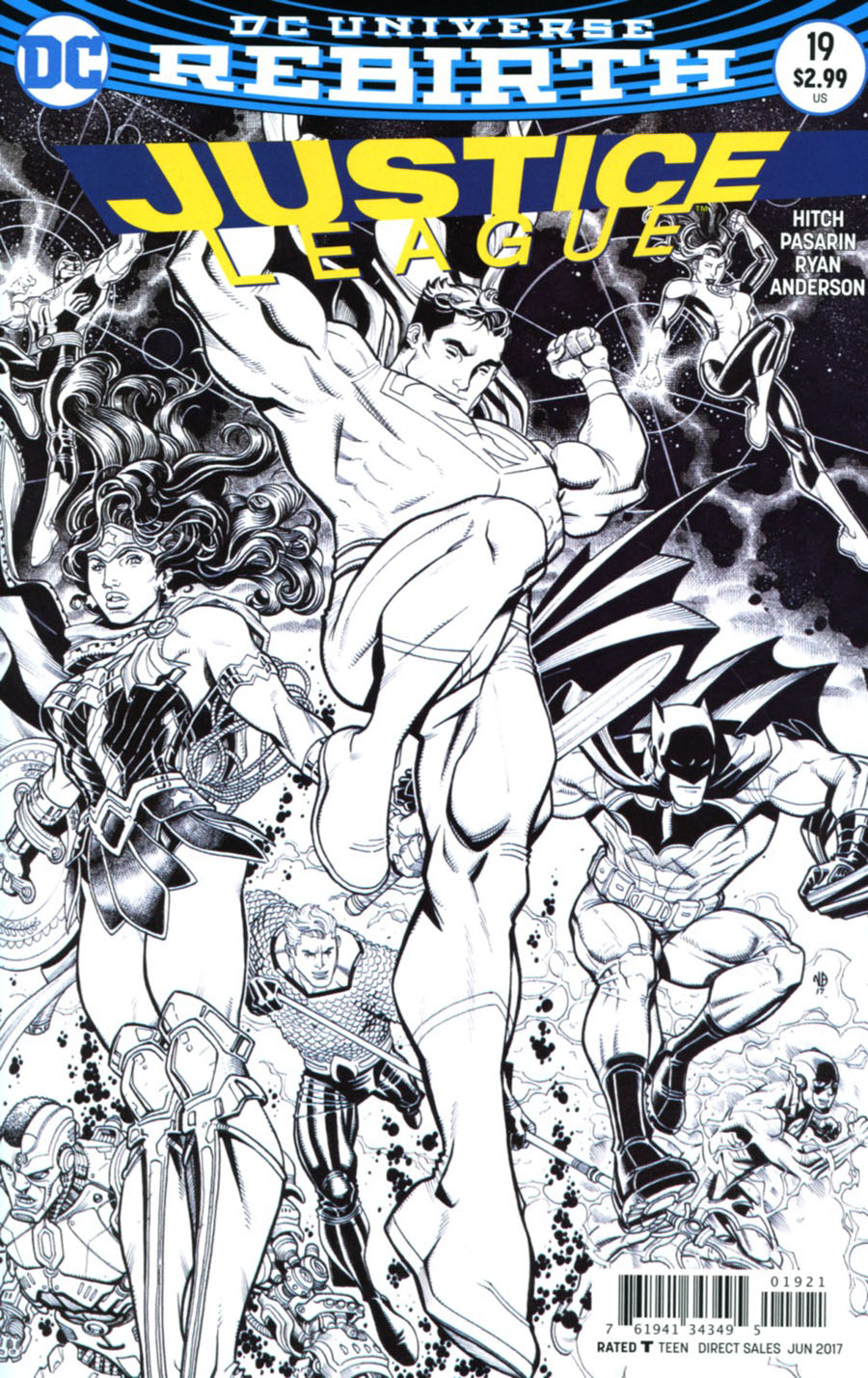 Justice League Vol 3 #19 Cover B Variant Nick Bradshaw Cover
