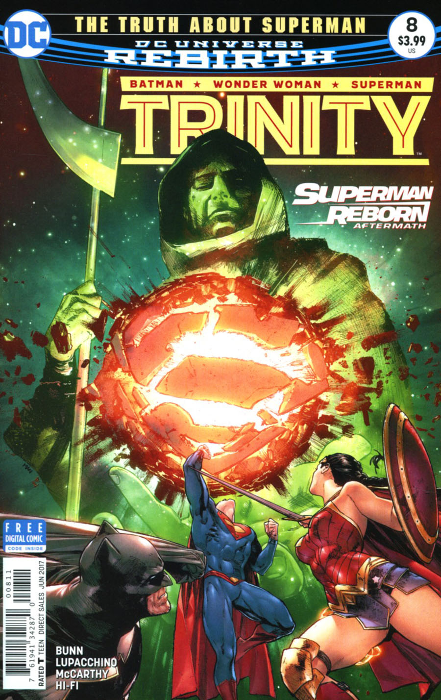 Trinity Vol 2 #8 Cover A Regular Clay Mann Cover (Superman Reborn Aftermath Tie-In)