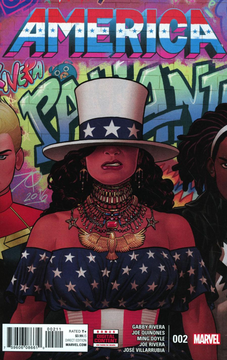 America #2 Cover A 1st Ptg Regular Joe Quinones Cover