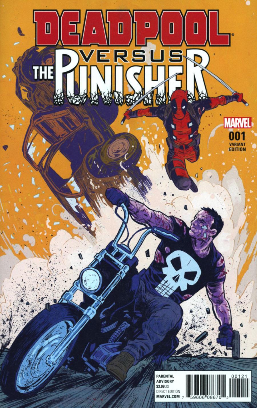Deadpool vs Punisher #1 Cover B Variant A Cover