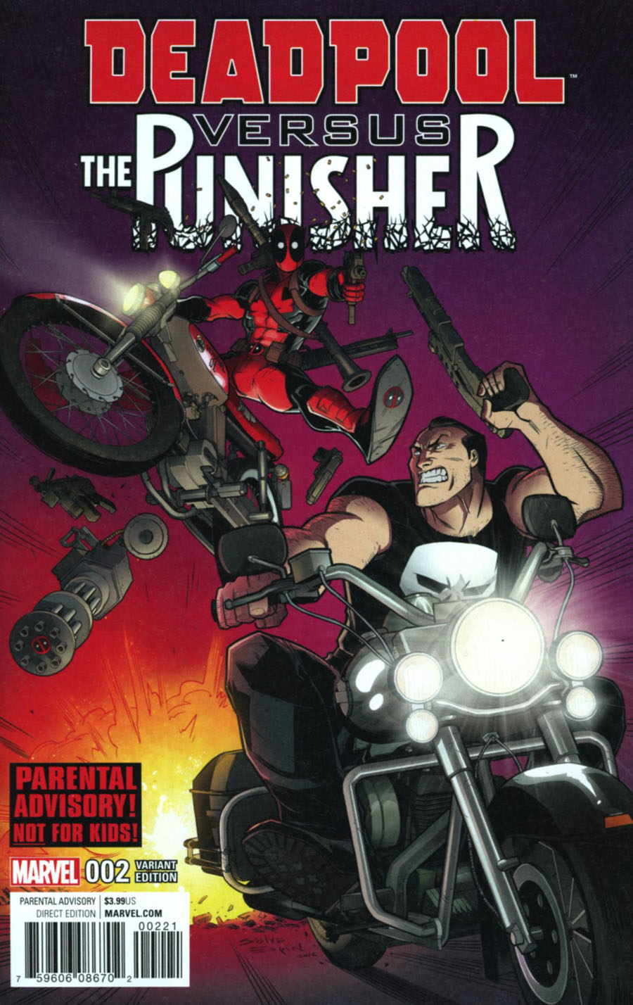 Deadpool vs Punisher #2 Cover B Variant Salvador Espin Cover
