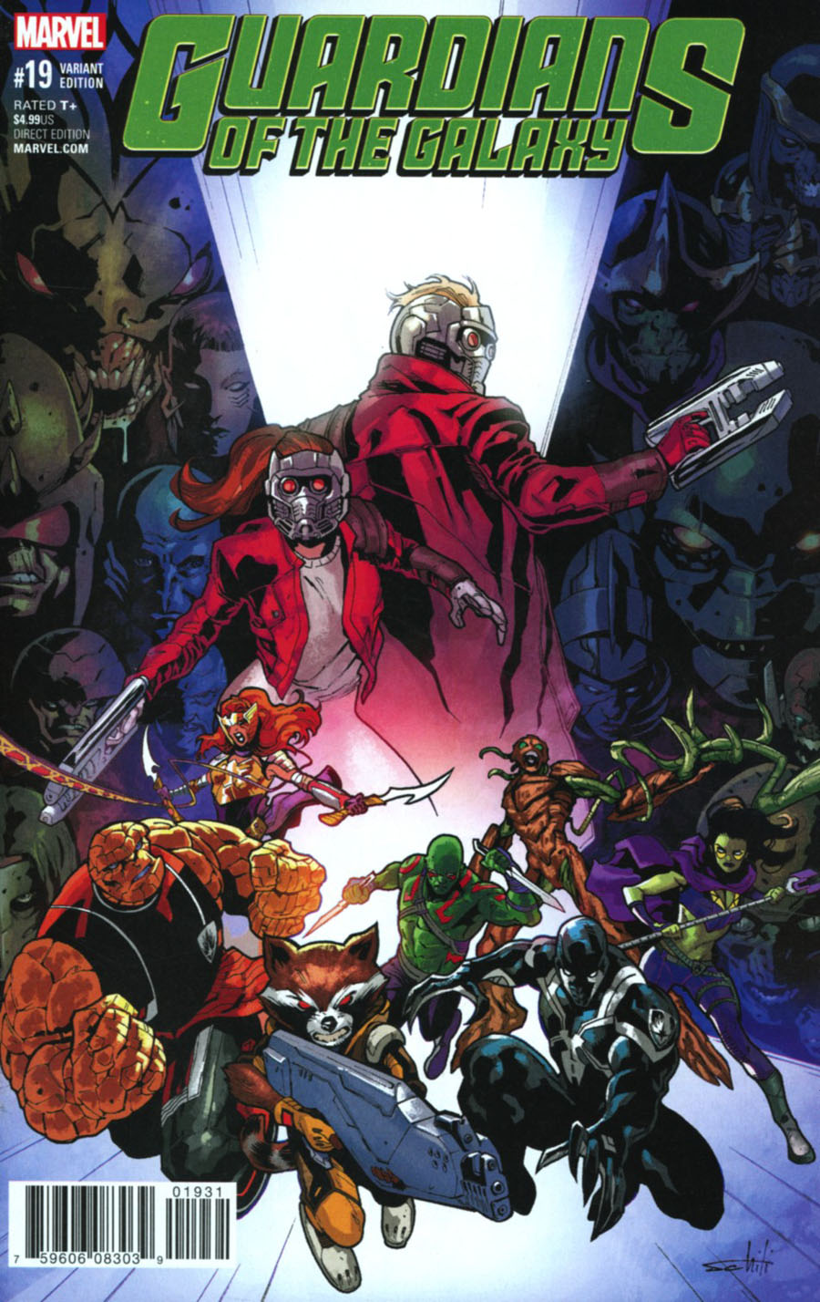 Guardians Of The Galaxy Vol 4 #19 Cover C Variant Valerio Schiti Final Issue Cover