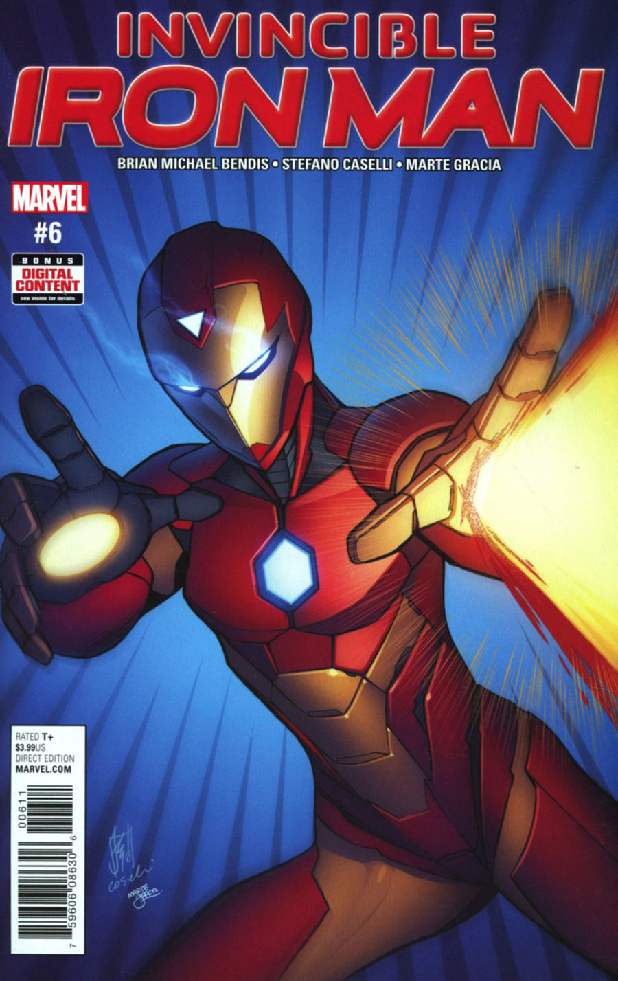 Invincible Iron Man Vol 3 #6 Cover A Regular Stefano Caselli Cover