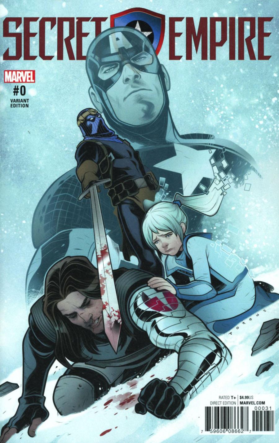 Secret Empire #0 Cover B Variant Elizabeth Torque Cover