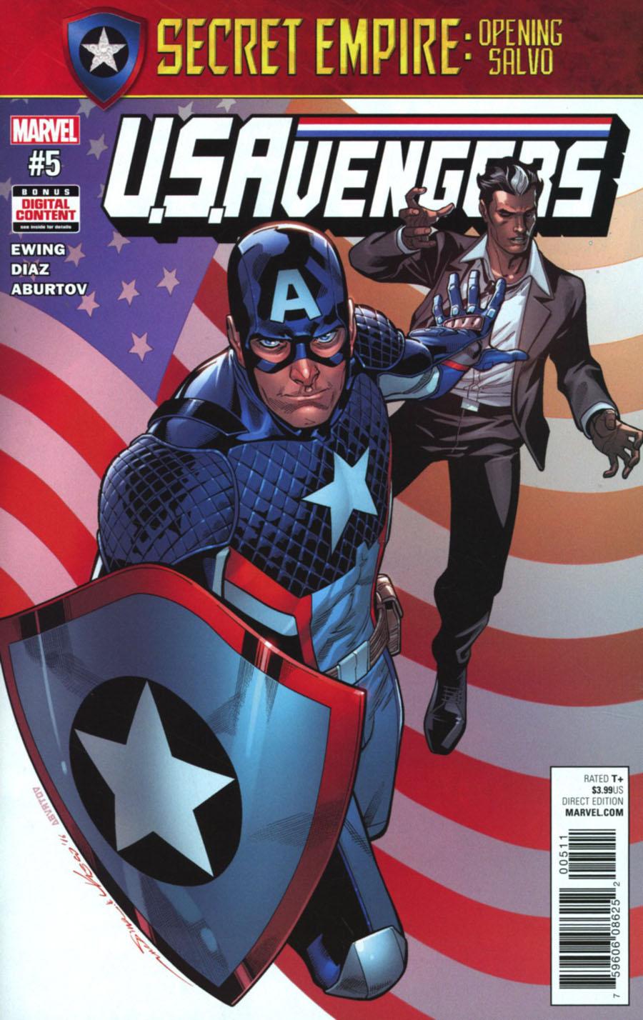 U.S.Avengers #5 Cover A Regular Paco Medina Cover (Secret Empire Prelude)