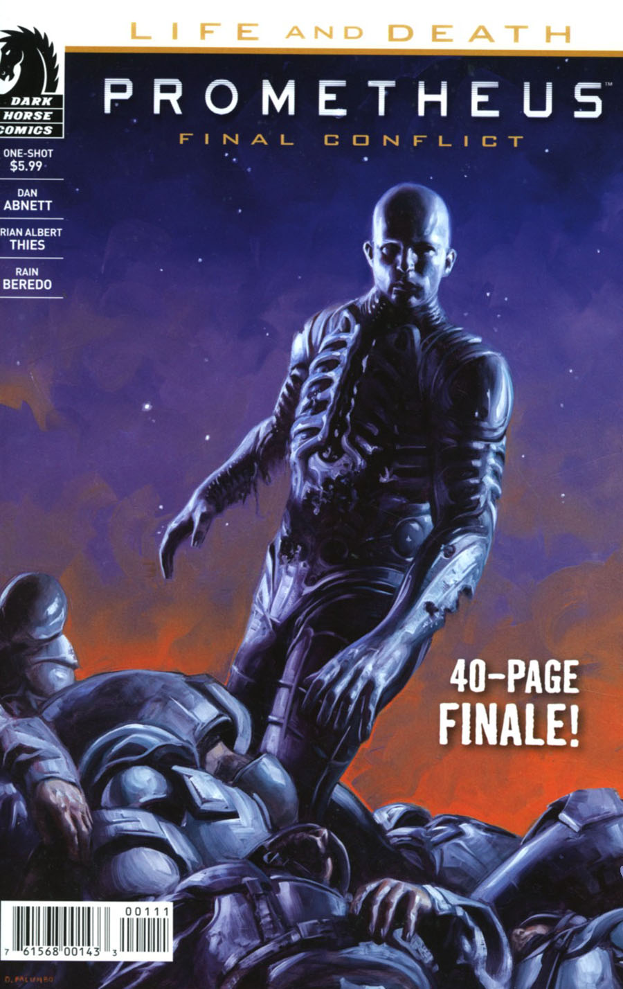Prometheus Life And Death One Shot Cover A Regular David Palumbo Cover