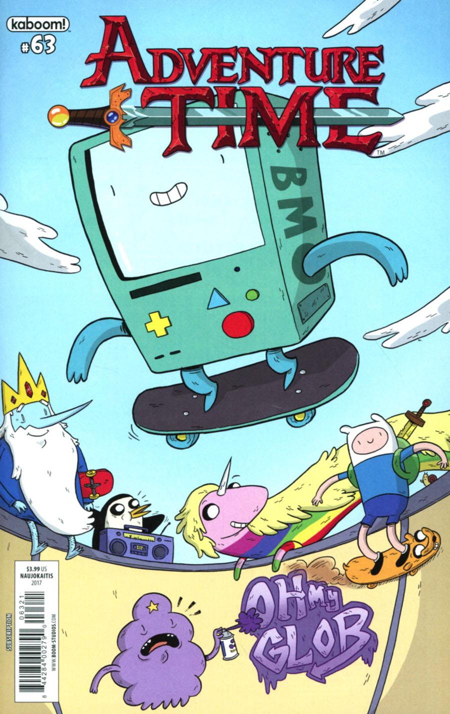 Adventure Time #63 Cover B Variant Pranas Naujokaitis Subscription Cover