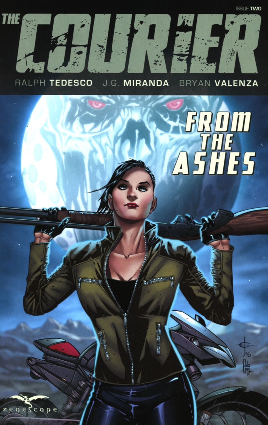 Courier From The Ashes #2 Cover A Drew Edward Johnson