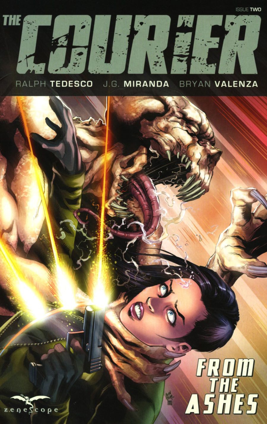 Courier From The Ashes #2 Cover B Allan Otero