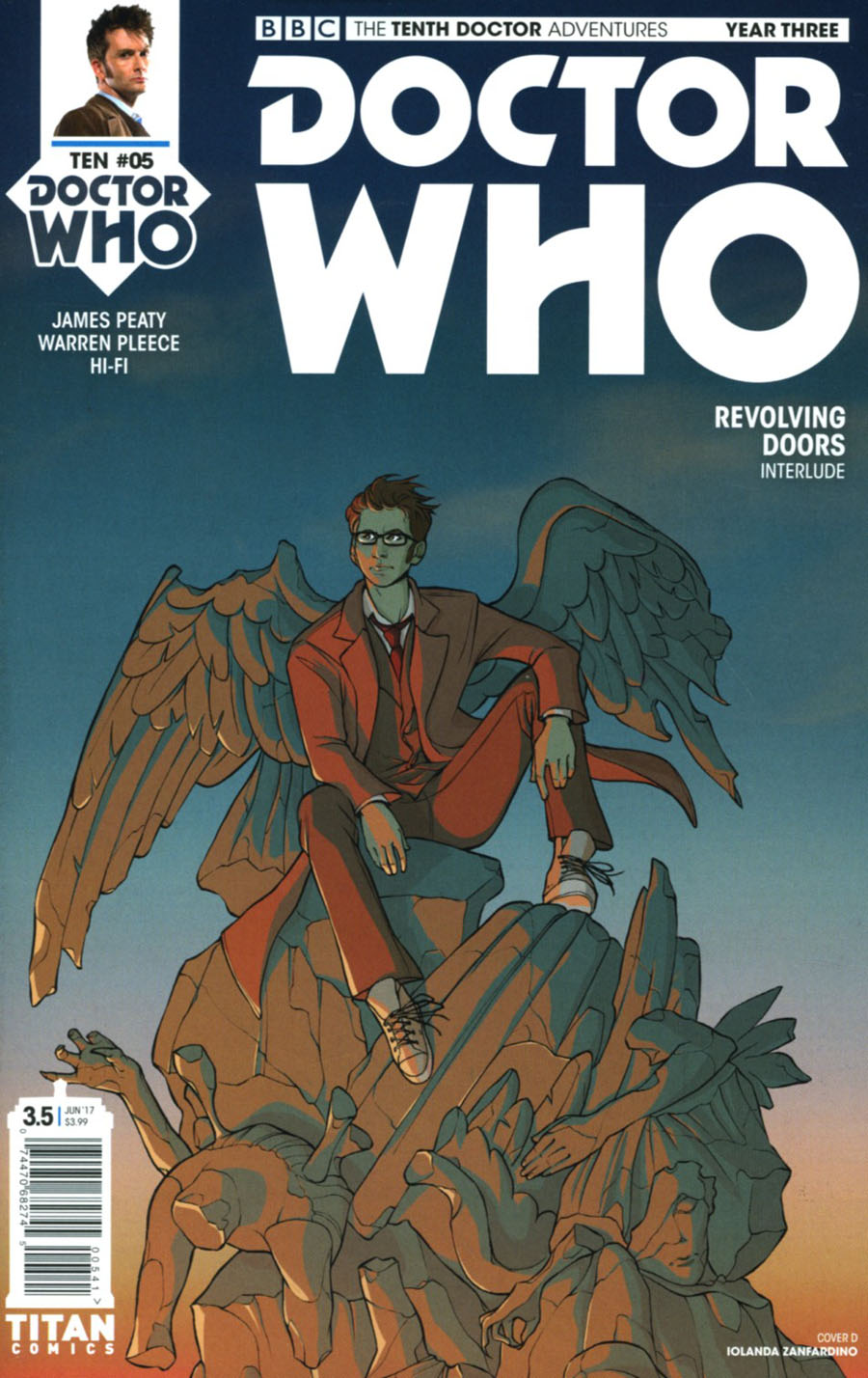 Doctor Who 10th Doctor Year Three #5 Cover D Variant Iolanda Zanfardino Cover