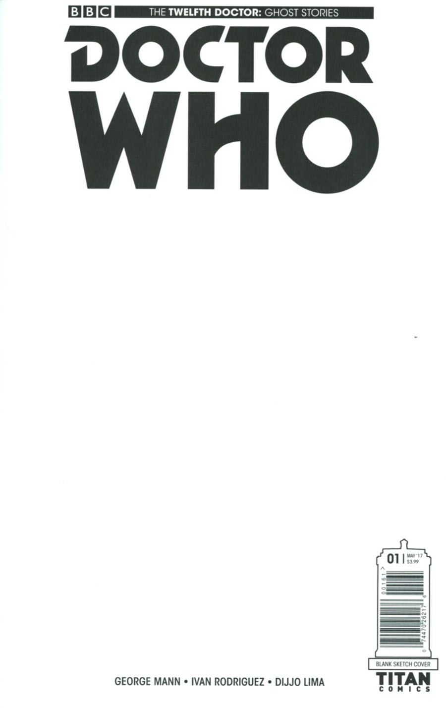 Doctor Who Ghost Stories #1 Cover F Variant Blank Cover