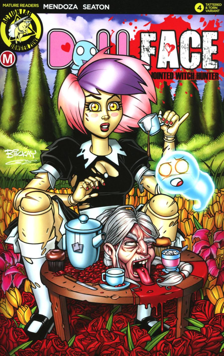 Dollface #4 Cover E Variant Bill McKay Artist Tattered & Torn Cover