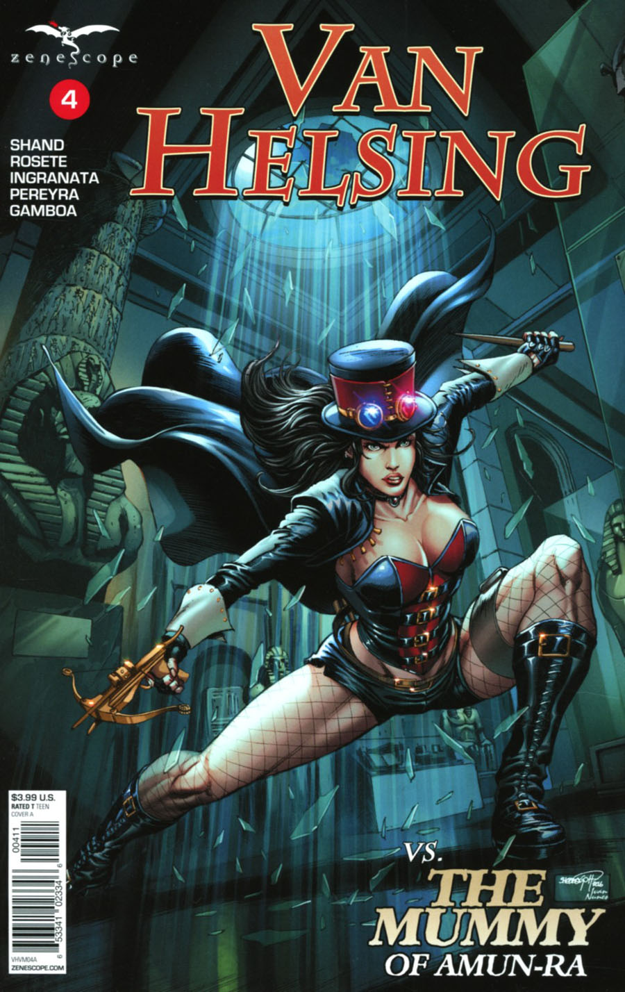 Grimm Fairy Tales Presents Van Helsing vs The Mummy Of Amun-Ra #4 Cover A Sheldon Goh
