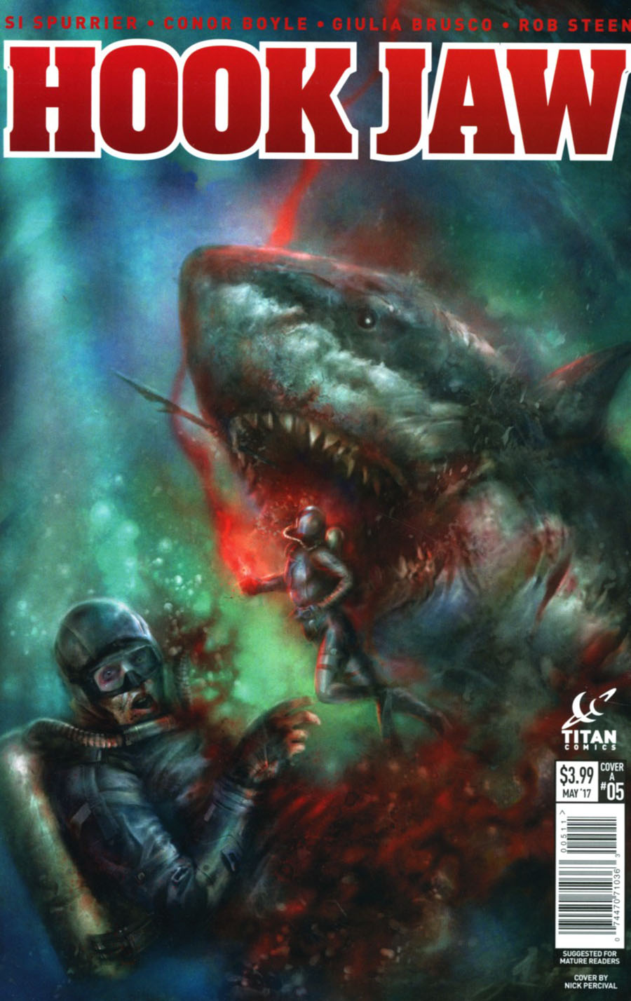 Hookjaw #5 Cover A Regular Nick Percival Cover