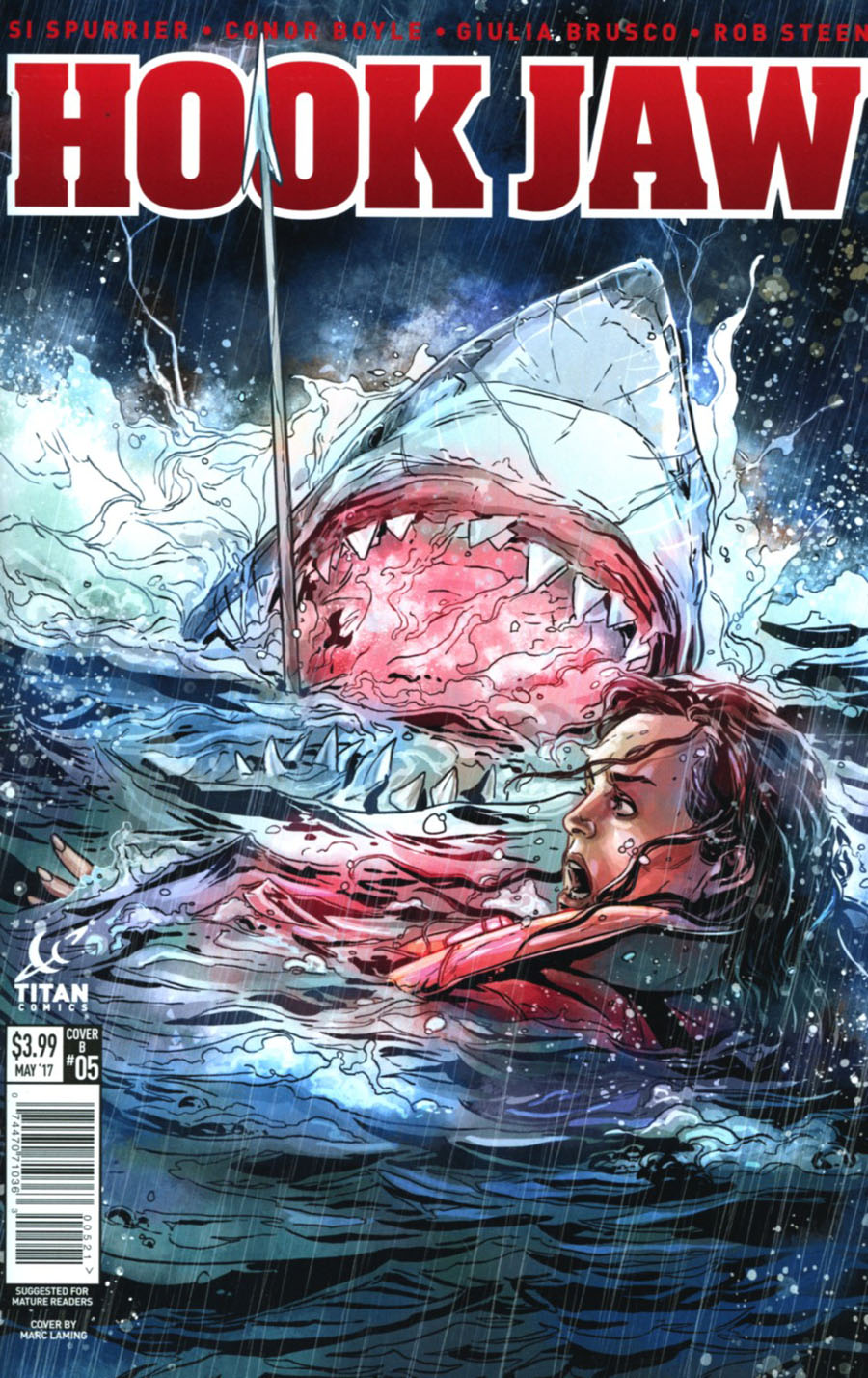 Hookjaw #5 Cover B Variant Marc Laming Cover