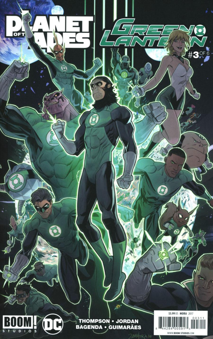 Planet Of The Apes Green Lantern #3 Cover A Regular Dan Mora Cover