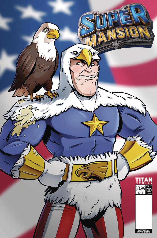 Supermansion #2 Cover C Variant Matt Hebb Cover