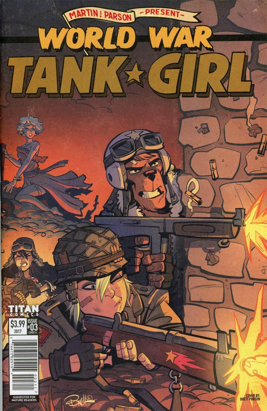 Tank Girl World War Tank Girl #3 Cover A Regular Brett Parson Cover
