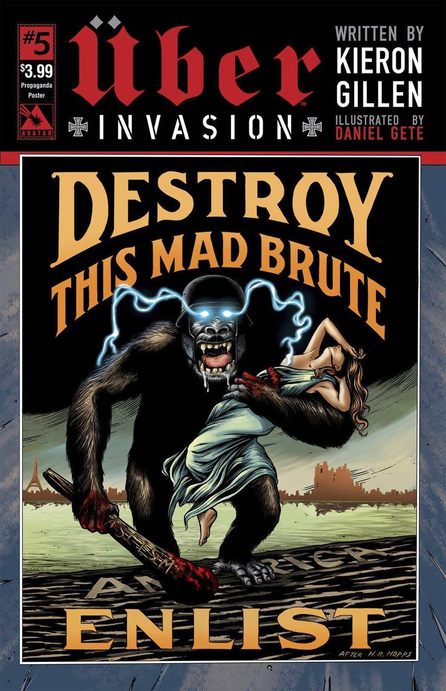 Uber Invasion #5 Cover D Propaganda Poster Cover