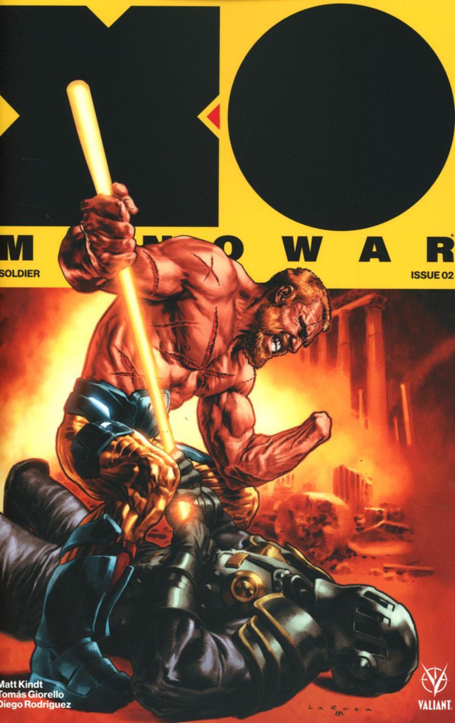 X-O Manowar Vol 4 #2 Cover A Regular Lewis LaRosa Cover