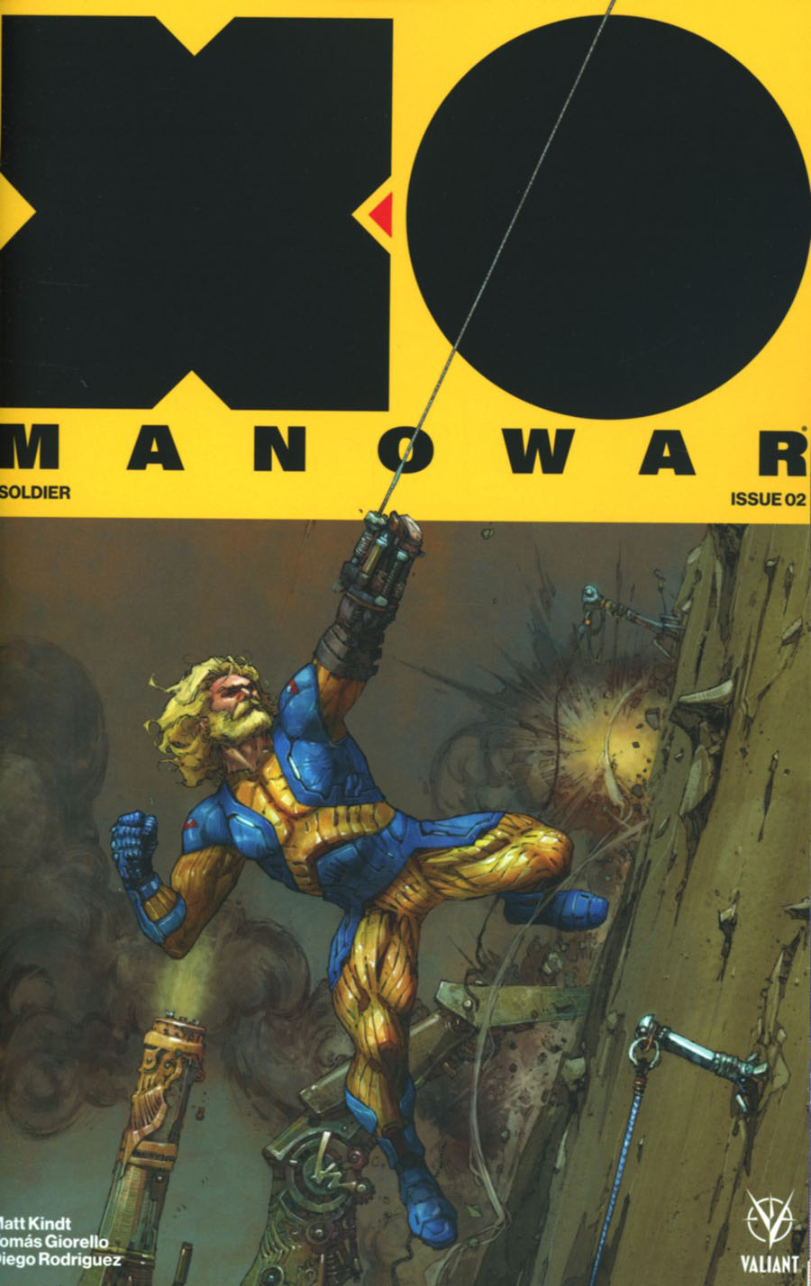 X-O Manowar Vol 4 #2 Cover B Variant Kenneth Rocafort Cover