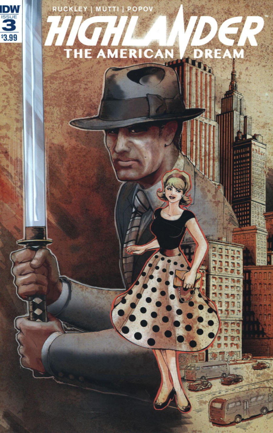 Highlander American Dream #3 Cover A Regular Andrew Griffith Cover