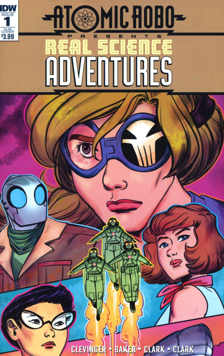 Atomic Robo Presents Real Science Adventures #1 Cover B Variant Veronica Fish Subscription Cover