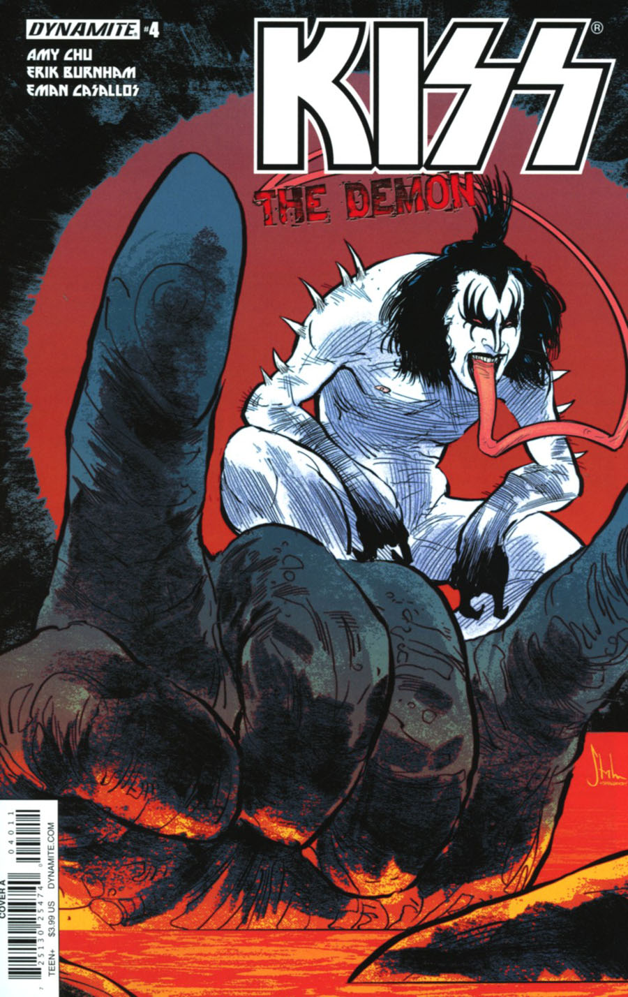 KISS The Demon #4 Cover A Regular Kyle Strahm Cover