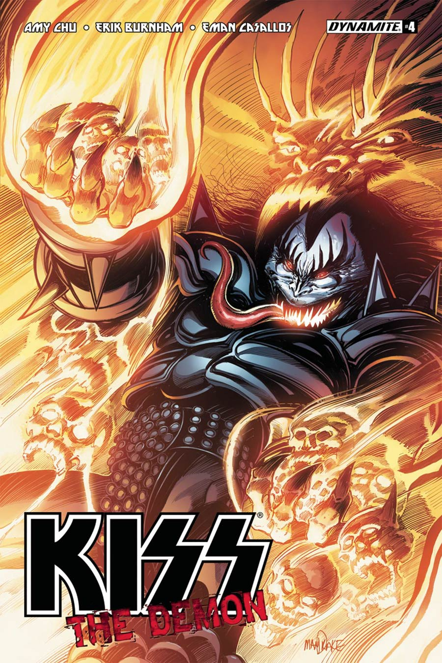 KISS The Demon #4 Cover B Variant Tom Mandrake Cover
