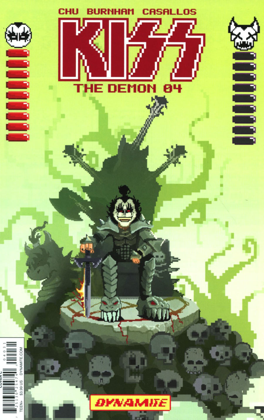KISS The Demon #4 Cover C Variant Michael Adams 8-Bit Cover