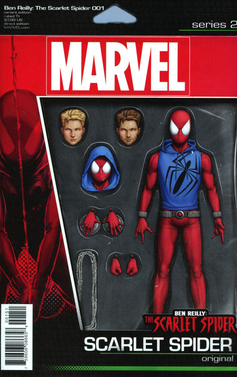 Ben Reilly The Scarlet Spider #1 Cover B Variant John Tyler Christopher Action Figure Cover