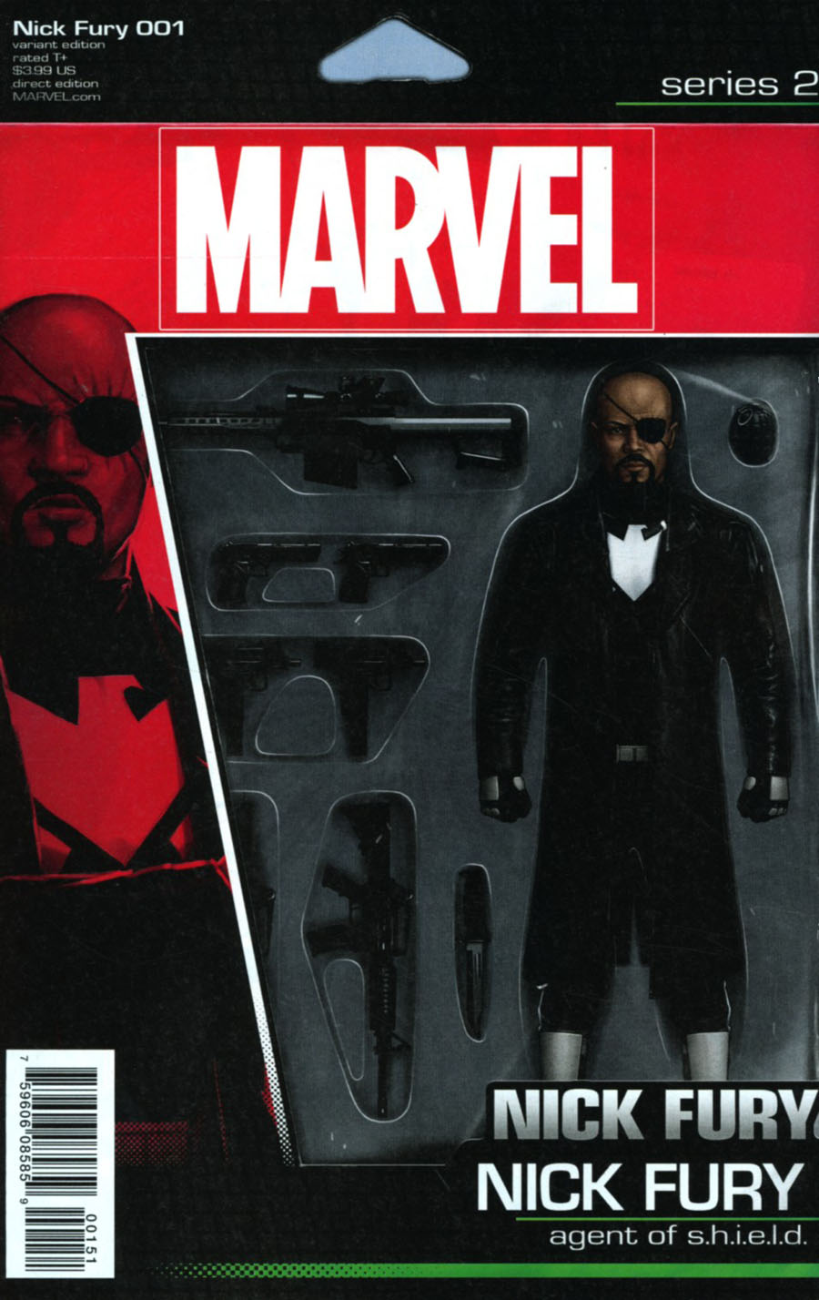 Nick Fury #1 Cover C Variant John Tyler Christopher Action Figure Cover