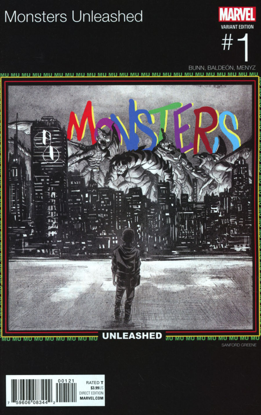 Monsters Unleashed Vol 2 #1 Cover B Variant Sanford Greene Marvel Hip-Hop Cover