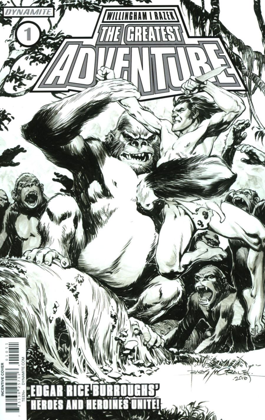 Greatest Adventure #1 Cover E Incentive Rags Morales Black & White Cover