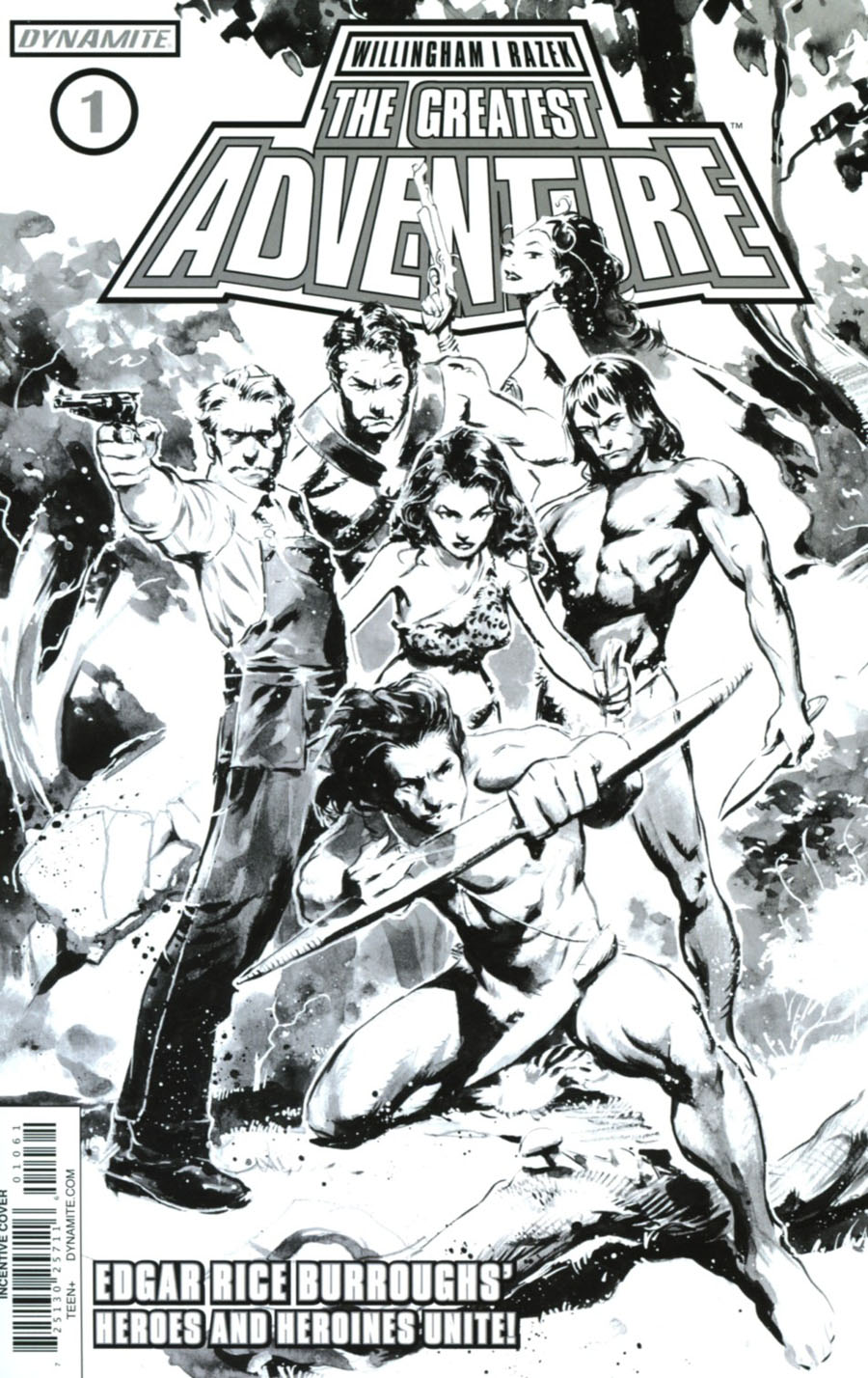 Greatest Adventure #1 Cover F Incentive Cary Nord Black & White Cover