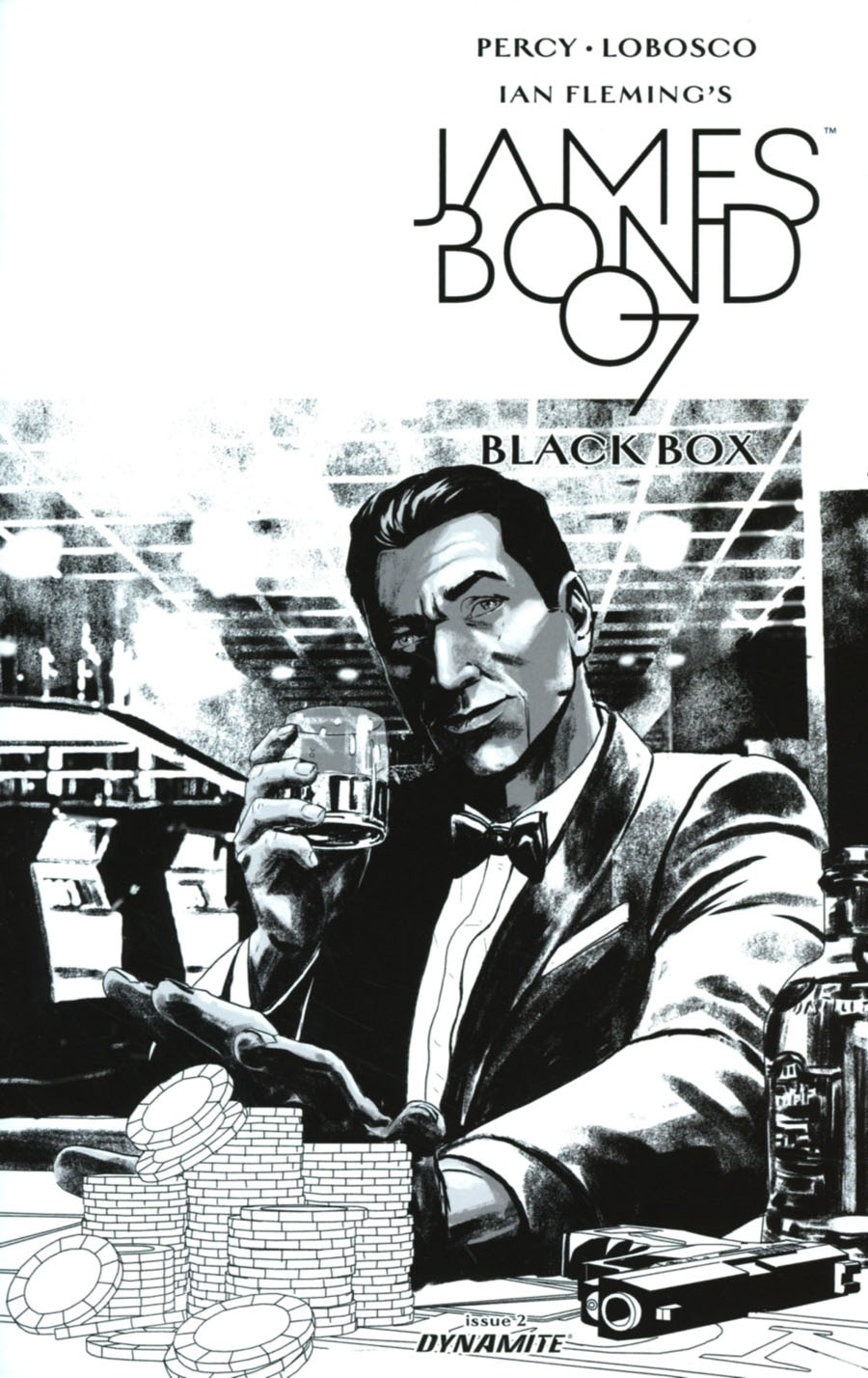 James Bond Vol 2 #2 Cover E Incentive Jason Masters Black & White Cover