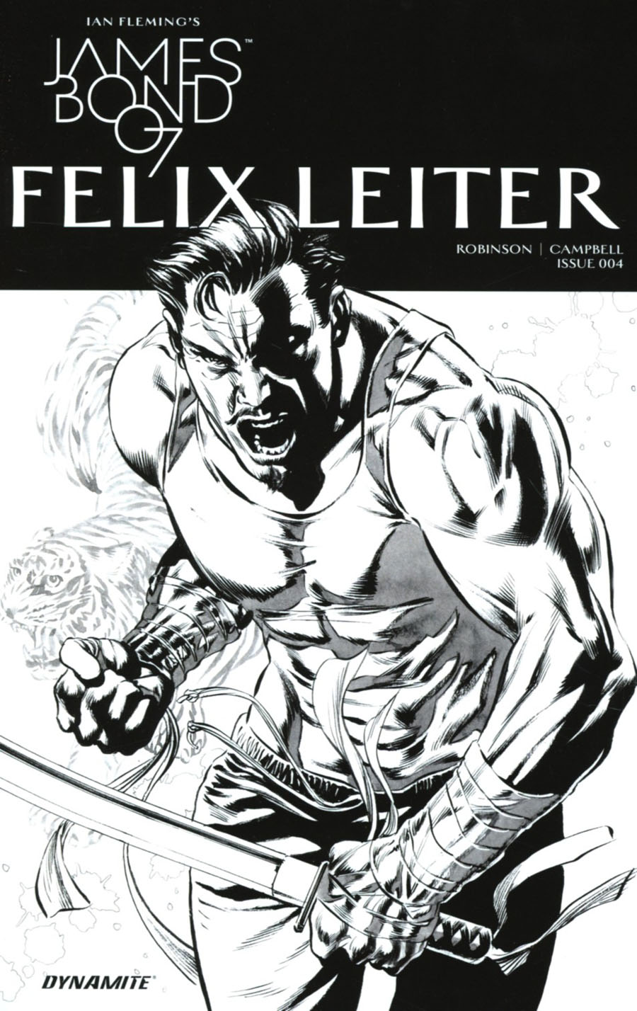 James Bond Felix Leiter #4 Cover B Incentive Mike Perkins Black & White Cover
