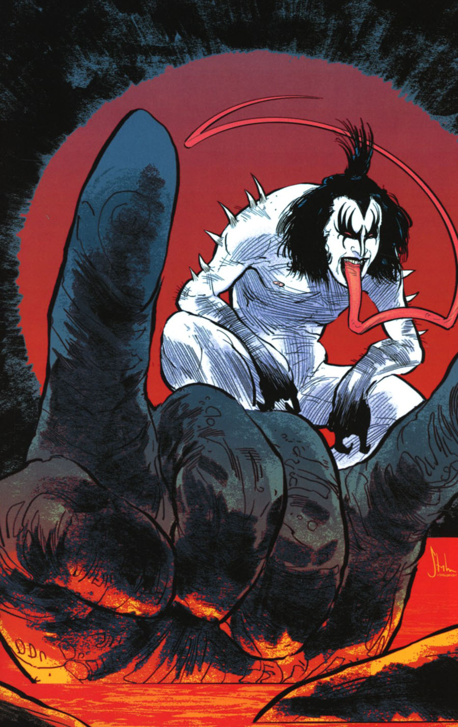 KISS The Demon #4 Cover G Incentive Kyle Strahm Virgin Cover