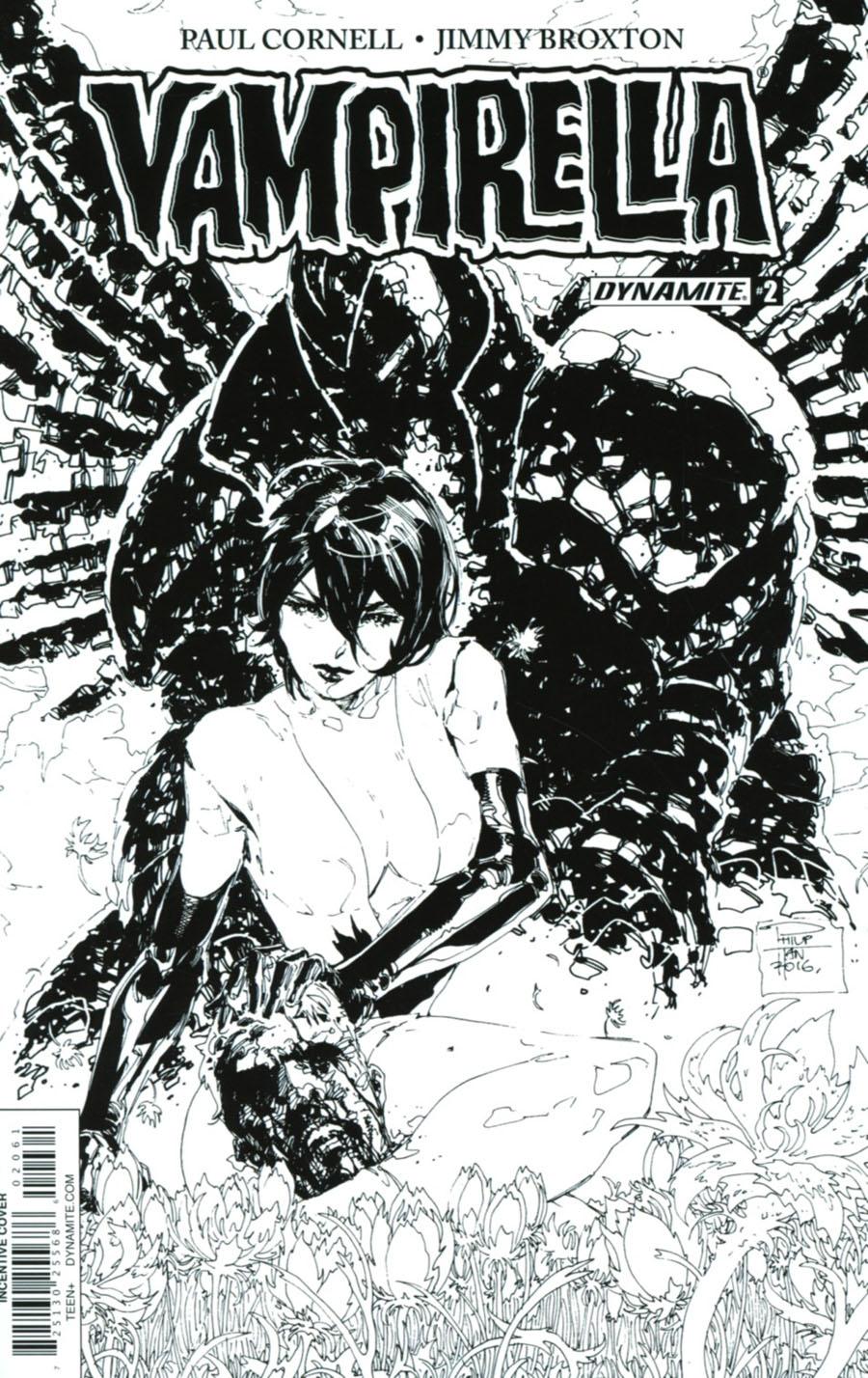 Vampirella Vol 7 #2 Cover F Incentive Philip Tan Black & White Cover
