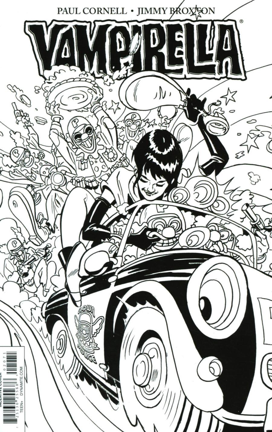 Vampirella Vol 7 #2 Cover G Incentive Jimmy Broxton Black & White Cover