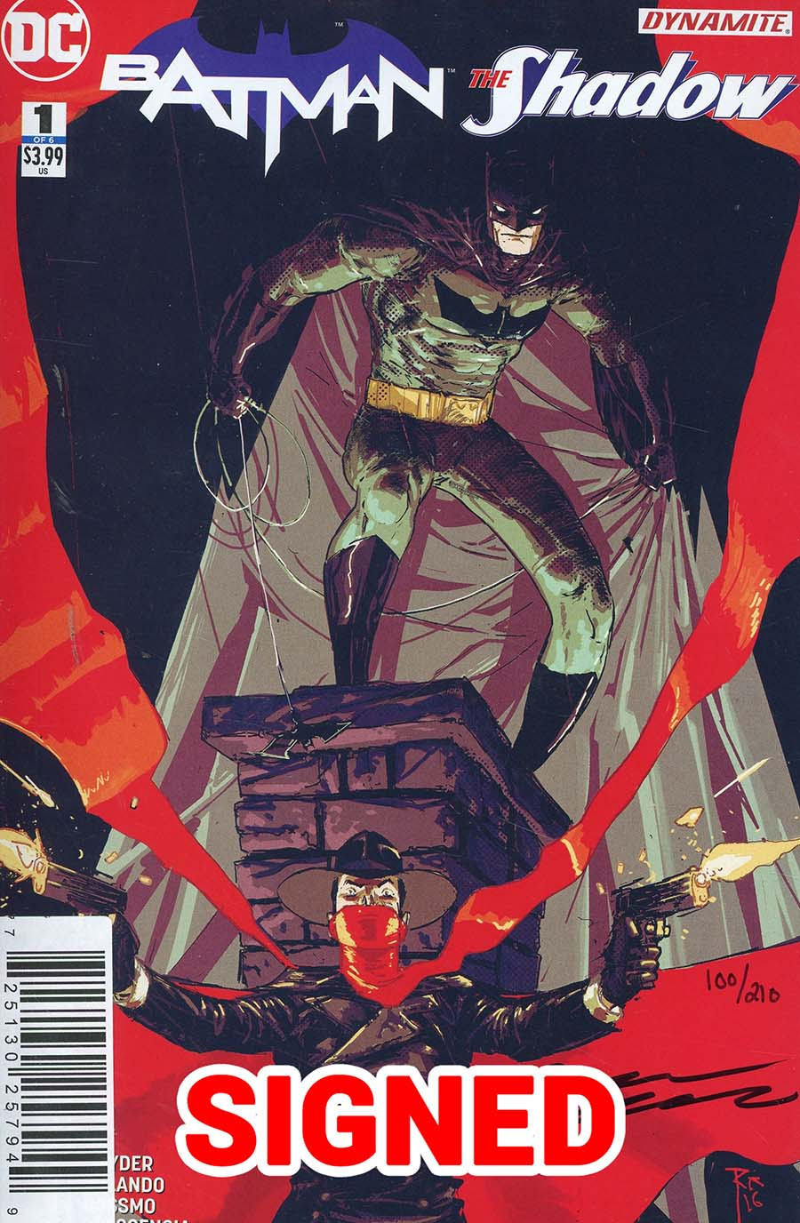 Batman The Shadow #1 Cover F DF Signed By Steve Orlando