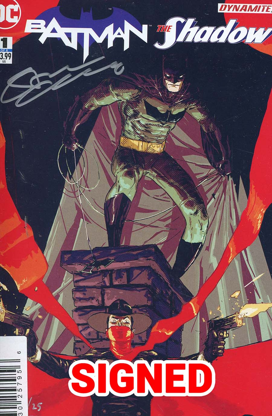Batman The Shadow #1 Cover G DF Ultra-Limited Shadow Silver Signature Series Signed By Steve Orlando