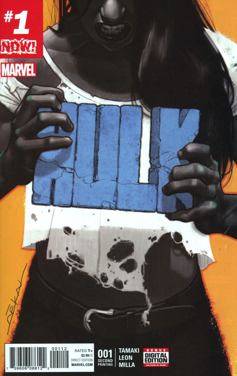 Hulk Vol 4 #1 Cover K 2nd Ptg Jeff Dekal Cover (Marvel Now Tie-In)